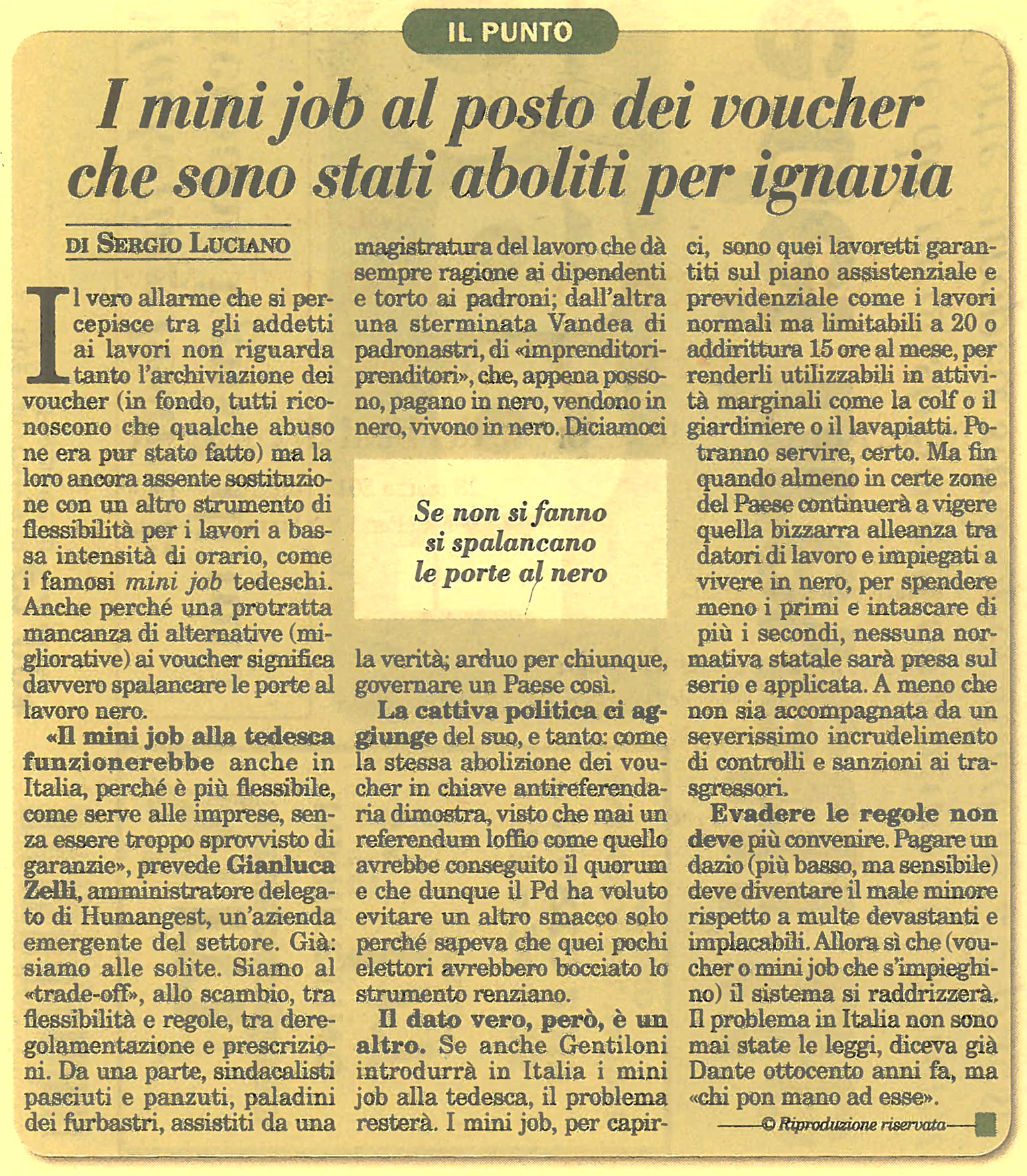 Zelli su voucher e mini job